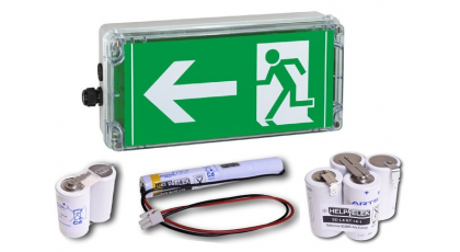 Battery for emergency lighting