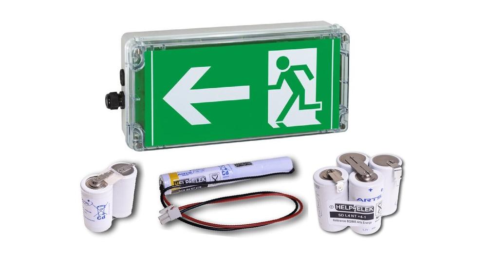 Battery for emergency lighting